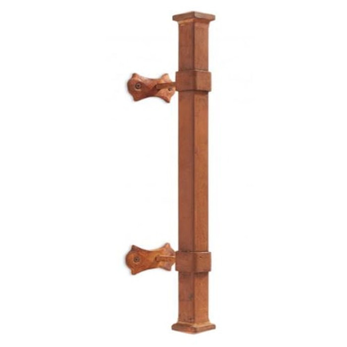 Square Iron Door Pull- Rust
