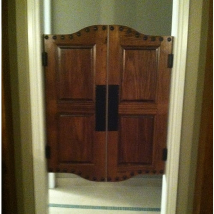 Cottage Style Doors Shown with Commercial Upgrade and Push Plates Included