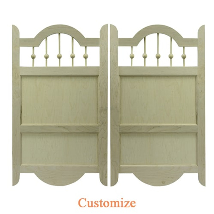 Custom Western Curve with Spindles Saloon Doors | Swinging Cafe Doors
