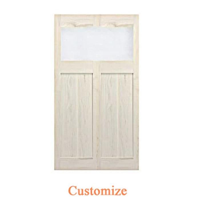 Single Modern Interior Doors- Glass Door Saloon Door