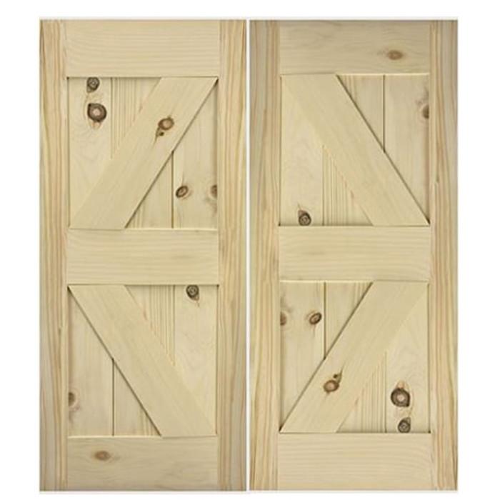 Barn Doors   Interior Barn Doors   Custom Double Barn Doors- Diamond Design