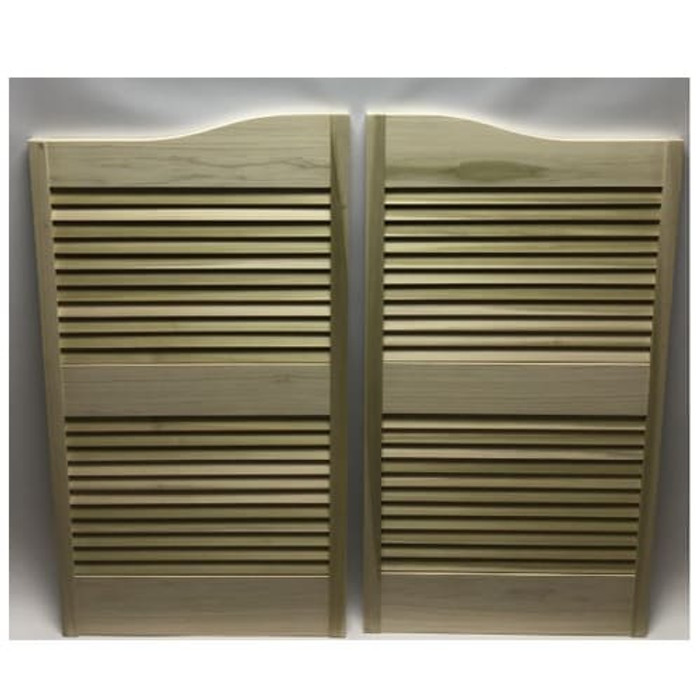 Poplar Louver Doors- Louvered Cafe Doors 48.5 Door Opening