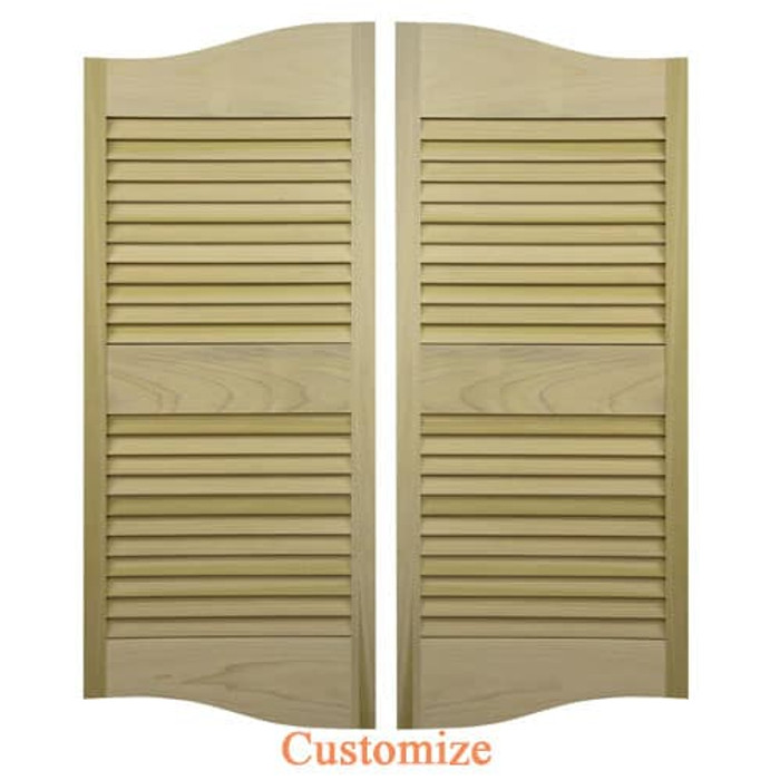 Custom Cottage Plantation | Louvered Swinging Cafe Doors
