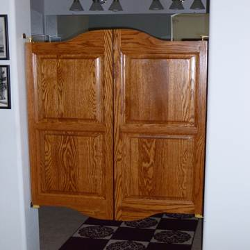 Oak Saloon Doors- Master Bathroom