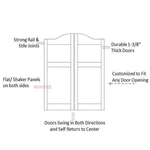Arch Top Shaker Panel Door Specs