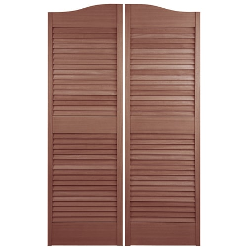 Arched Top Louvered Cafe Doors