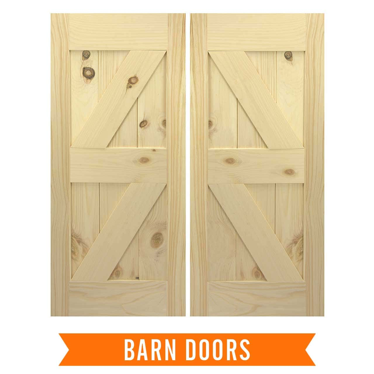 Swinging saloon type doors