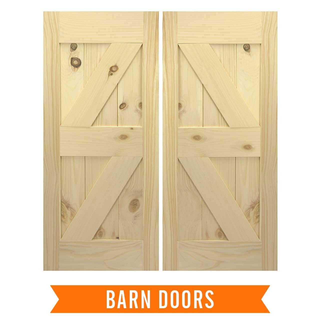 Swinging saloon type doors