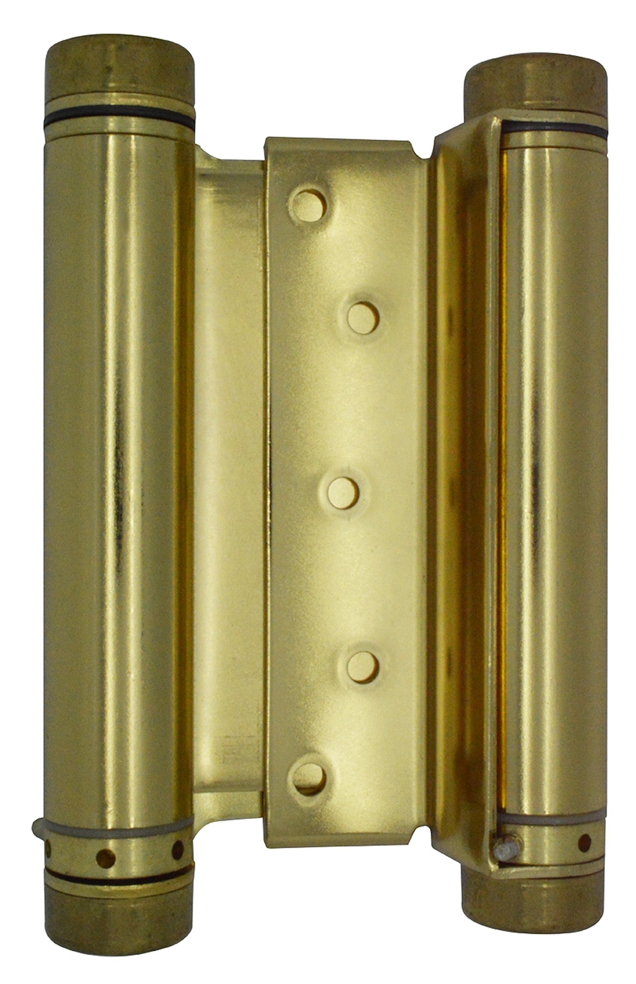 "6"" Polished Brass Double Action Spring Hinge"