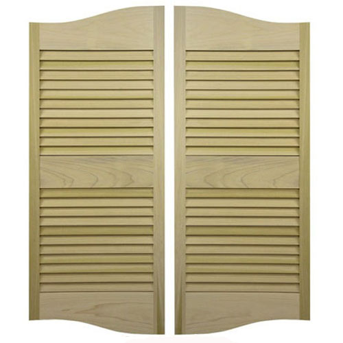 Cottage Style Louvered Saloon Doors