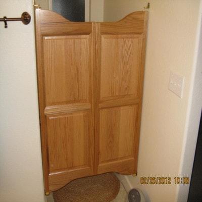 Cottage Style Saloon Doors- Water Closet Doors