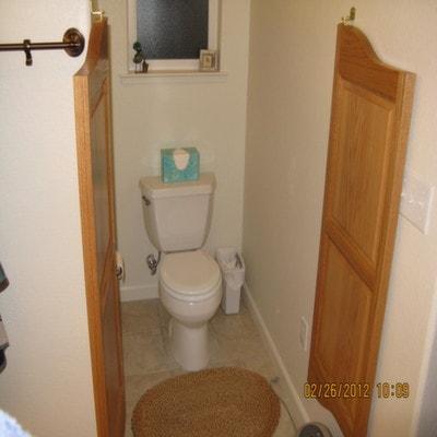 Custom Cottage Saloon Door- Water Closet