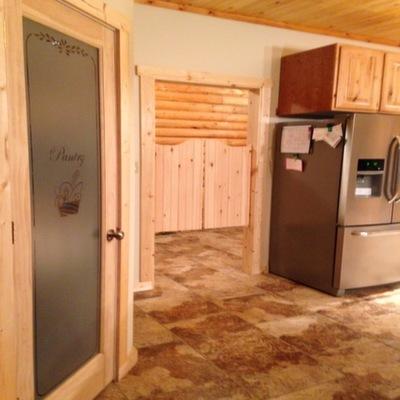 Pine Swinging Kitchen Doors