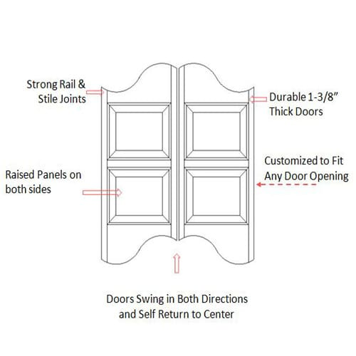 Logo Batwing Saloon Door Specifications