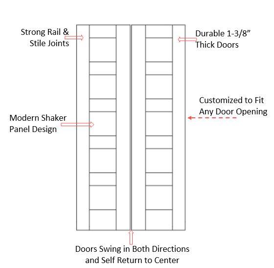 Arch Top  Raised Panel Saloon Door Specifications