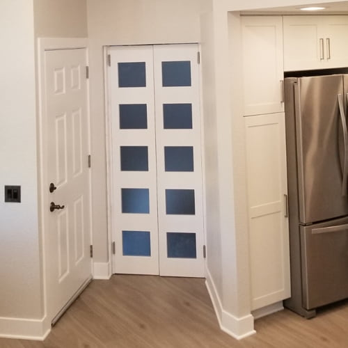 Full Length doors with Commercial Grade Spring Hinges
