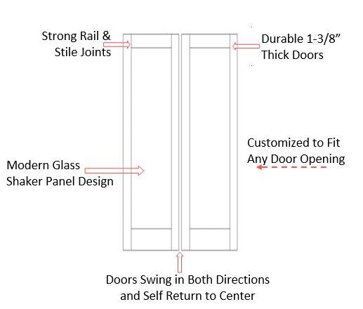 Double Glass Panel Swinging Doors | Butler Doors