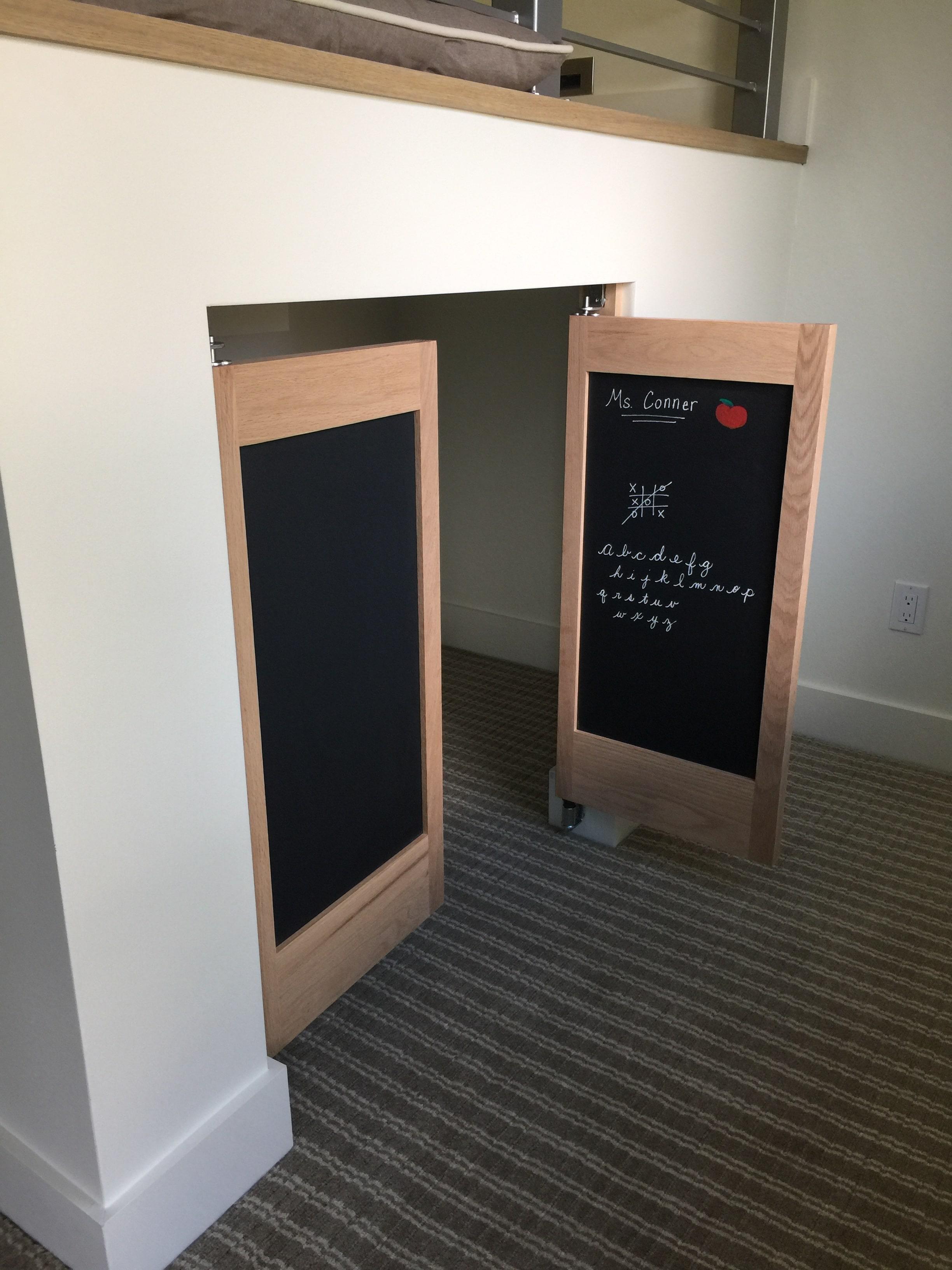 Custom ChalkBoard Saloon Doors   Swinging Cafe Doors