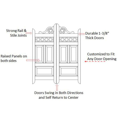 Scroll Saloon Door Specifications