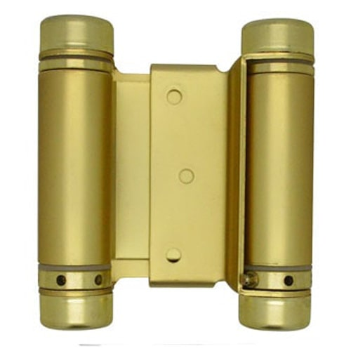 "3"" Satin Brass Double Action Spring Hinge"
