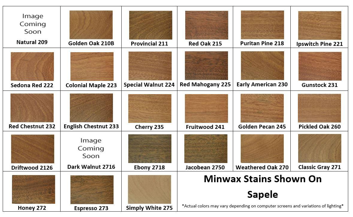 Sapele Minwax Stain Samples