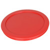 Pyrex 7201-PC Red, White, and Cobalt Blue 4-Cup Plastic Replacement Lids