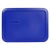 Pyrex 7210-PC 3 Cup Cadet Blue Rectangle Plastic Storage Lid (5-Pack)