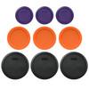 Pyrex (3) 7200-PC Plum Purple, (3) 7201-PC Orange, & (3) 7402-PC Black Plastic Food Storage Replacement Lids