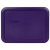 Pyrex (2) 7200-PC Plum Purple, (1) 7201-PC Orange, (2) 7210-PC Plum Purple, & (1) 7402-PC Black Plastic Food Storage Replacement Lids