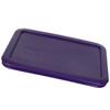 Pyrex (2) 7200-PC Plum Purple, (1) 7201-PC Orange, (1) 7210-PC Plum Purple, & (1) 7211-PC Edamame Green Food Storage Replacement Lids