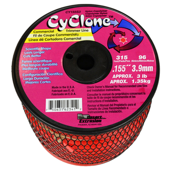 Cyclone trimmer line with 0.155-inch line diameter