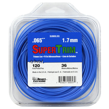 """SuperTrim SU065LSQ 0.065"""" 120ft Blue String Trimmer Line Made in USA"""