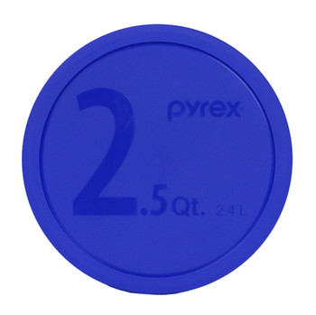 Pyrex 325 Dark Blue 2.5 Quart, 2.4 Litre Round BPA Free Plastic Lid