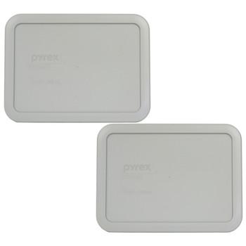 Pyrex 7210-PC Grey 3 Cup 750mL Rectangle Plastic Lid  - 2 Lids