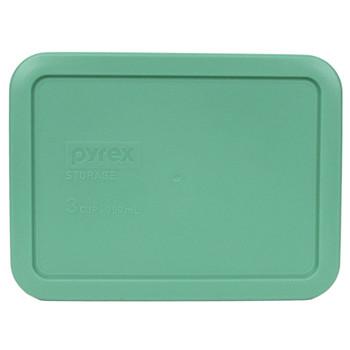 Pyrex 7210-PC Aqua 3 Cup, 750ml Rectangle BPA Free Plastic Lid