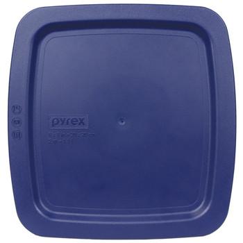Pyrex C-222-PC 2 Quart Dark Blue Easy Grab Square Plastic Replacement Lid