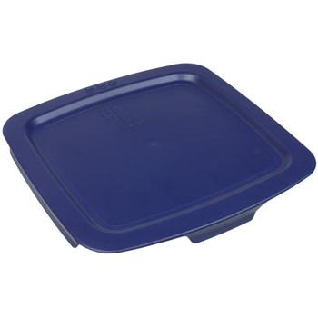 Pyrex C-222-PC 2qt Dark Blue Easy Grab Square Plastic Lid