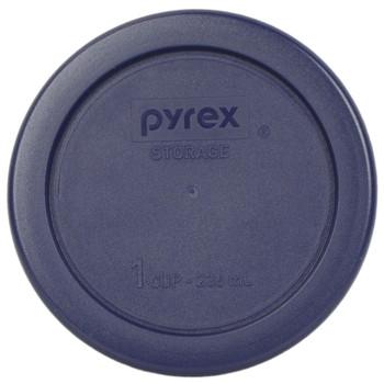 Pyrex 7202-PC Dark Blue 1 Cup, 236ml Round BPA Free Plastic Lid
