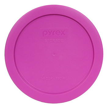 Pyrex 7201-PC Pink 4 Cup, 950ml Round BPA Free Plastic Cover