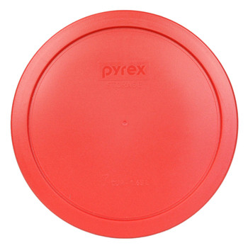 Pyrex 7402-PC Red 6/7 Cup, 1.6 Litre Round Plastic Storage Lid