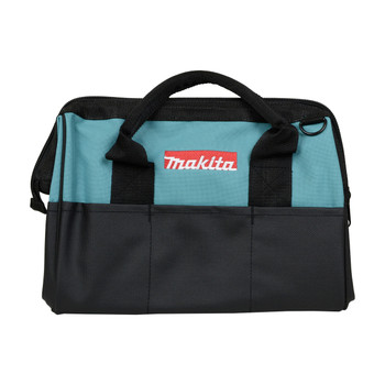 "Makita 14"" Compact Black Tool Bag with Shoulder Strap"