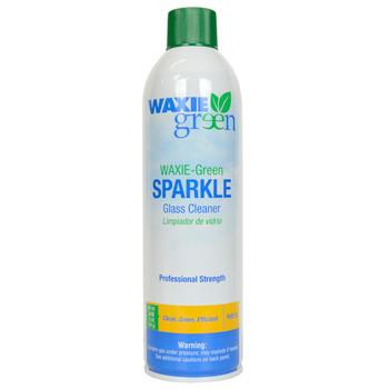 Waxie Green 16-ounce Glass Cleaner and One Waxie Blue Microfiber Polishing Cloth