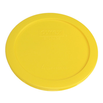 Pyrex 7201-PC Lemon Yellow 4 Cup Round Plastic Replacement Lid
