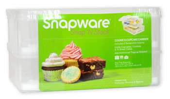 Snapware 2-Layer Snap n' Stack Portable Dessert Carrier