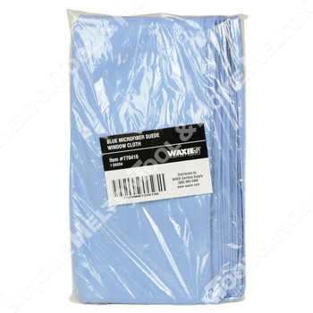 Waxie Blue Microfiber Polishing Cloth - 12 Pack