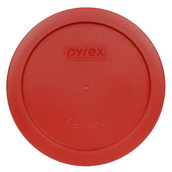 Pyrex 7201-PC Poppy Red 4 Cup Round Plastic Replacement Lid