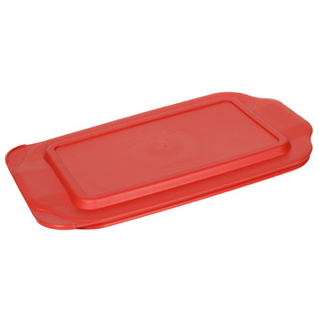 Pyrex 232-PC Red Rectangle Plastic Food Storage Replacement Lid Cover
