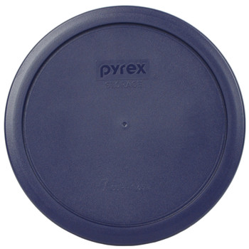 Pyrex 7402-PC 6 Cup (2) Red (2) Blue (2) Green Round Plastic Storage Lids - 6 Lids