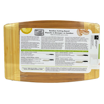 Chicago Cutlery Woodworks Bamboo Cutting Board with Juice Groove