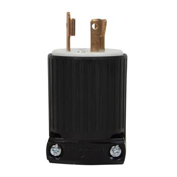 Side view of Cooper 30A twist lock industrial grade plug